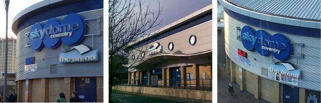 SkyDome Arena exterior signage